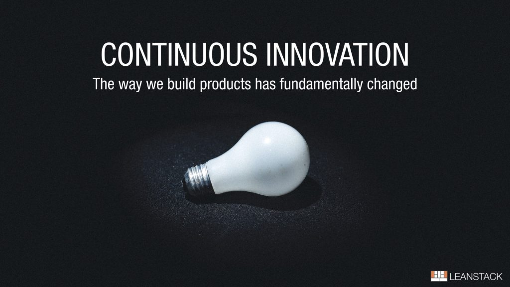Bilde av en lyspære som representerer en ide - kontinuerlig innovasjon